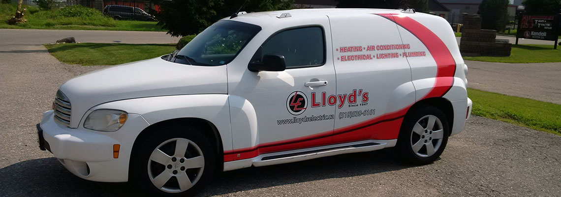 Lloyd's hvac contractor truck